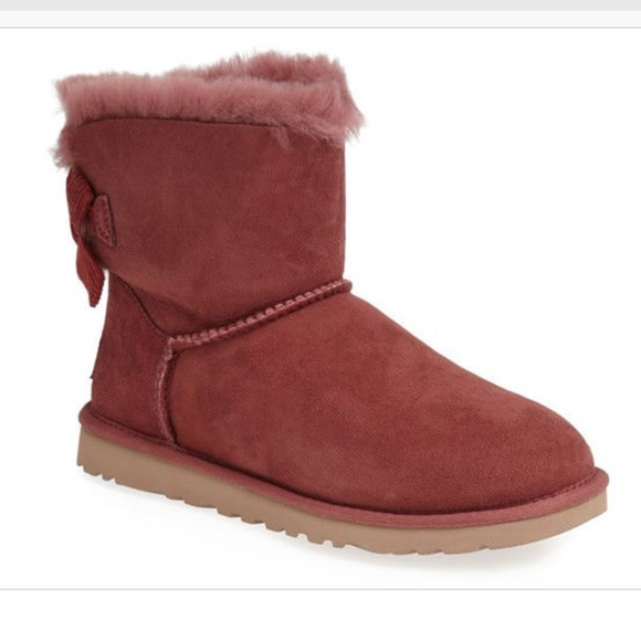 515c3144d61 UGG Dusty Rose Mini Bailey Bow Boots